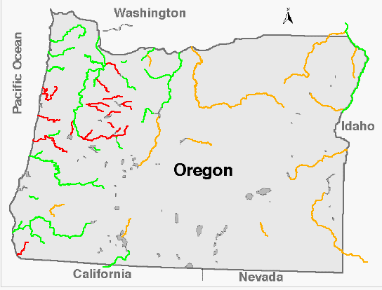 Oregon Levels - Map of kahneeta oregon